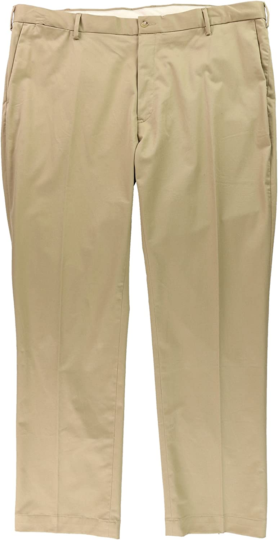 Ralph Lauren Mens Twill Casual Trouser Pants, Beige, 46 BigW x 32L