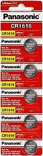 Panasonic CR1616 3V Coin Lithium Battery, 5 Stück pro Packung