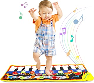 ONME Piano Mat, Soft Baby Early Education Portable Music Piano Keyboard Carpet, Safe Electronic Keyboard Play Blanket, Colorful Dance Mat-24 Keys Piano Toys Great Music Toy for Children