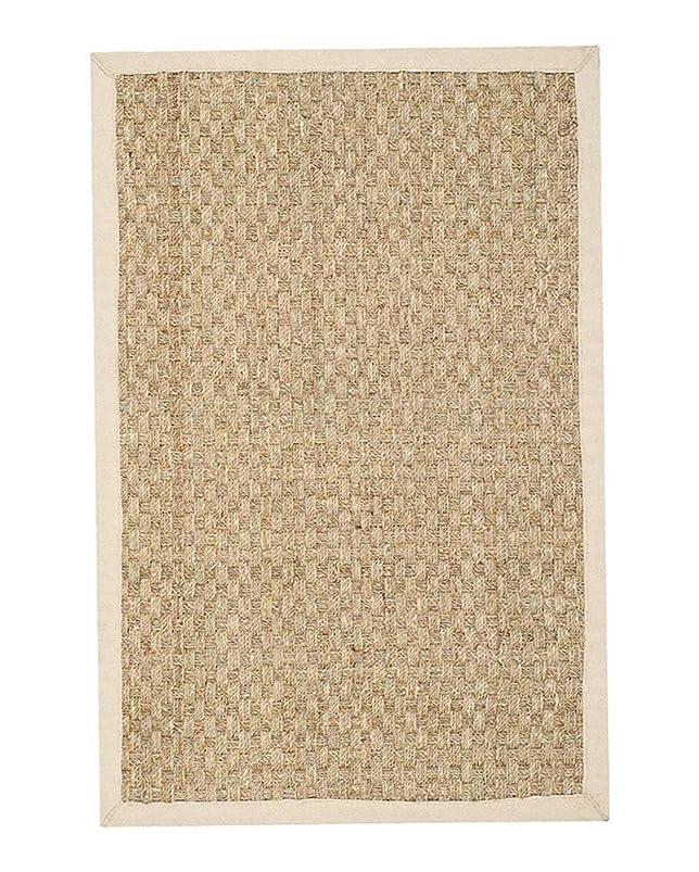 裁判官チキン普通に長方形のナチュラルジュートラグヴィンテージファイバーストローカーペット滑り止めマットホームリビングルームバルコニー(5サイズ)-Square-200*3