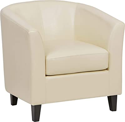 Amazon.com: Losbu Fany White Accent Chair: Kitchen & Dining