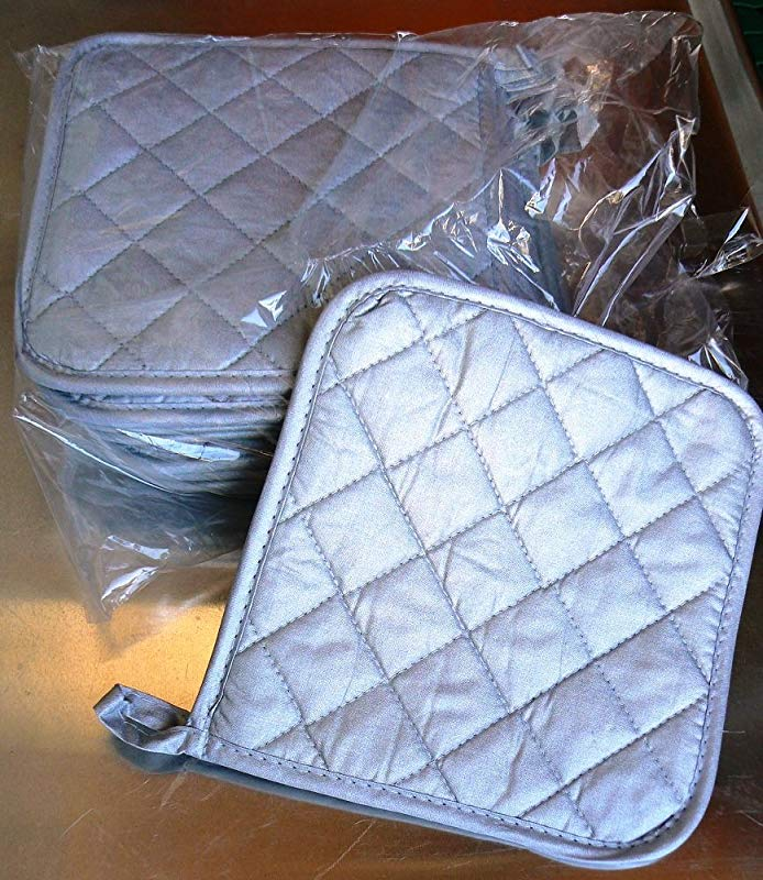 Happypinto Silicone Coating 100 Cotton Pot Holders 8 Inch X 8 Inch Quilted Up To 450F Heat Resistant Set Of 25