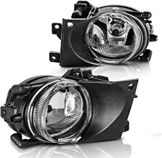 AUTOSAVER88 Fog Lights Compatible with 2001 2002 2003 BMW E39 5 Series (Clear Glass Lens w/Bulbs)
