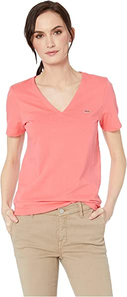 Short Sleeve Classic Supple Jersey V-Neck T-Shirt