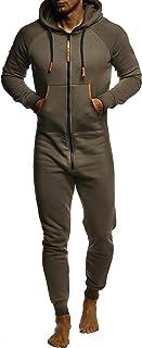 Leif Nelson Tuta da Jogging Salopette Onesie Monopezzo da Uomo LN-8270