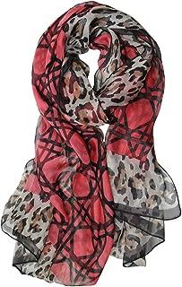 Chiffon Leopard Print Oblong Scarf