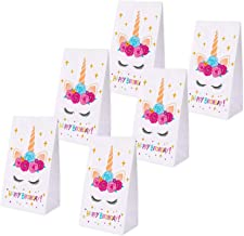 Erosom Unicorn Gifts Bags-Unicorn Paper Bags - Unicorn Birthday Party Supplies - Kids Party Decorations Perfect with Unicorn Cupcake Toppers and Wrappers Pack of 24