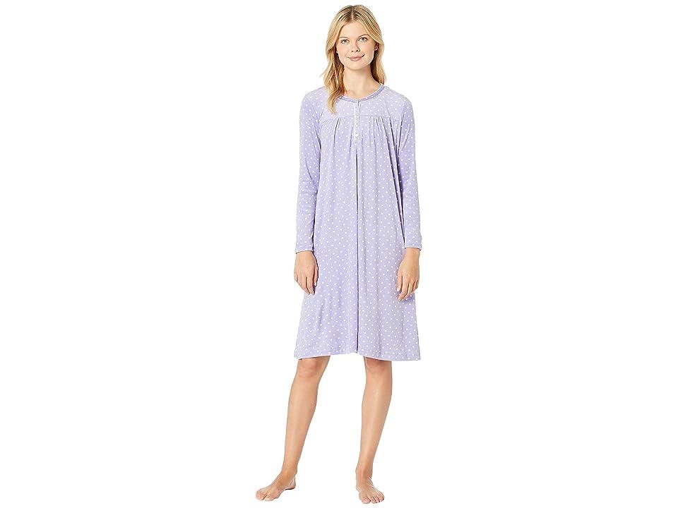 Carole Hochman Luxe Cozy Fleece Waltz Gown (Sapphire Dot) Women