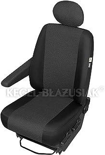 ZentimeX Z967641 Sitzbezüge Fahrersitz/Einzelsitz Armlehne rechts Stoff schwarz Airbag Kompatibel