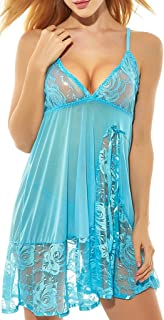 ADOREJOY Womens Babydoll Lingerie Set Plus Size Sleepwear