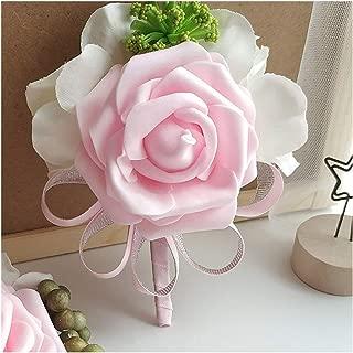Fenglin-joys Men Corsage Pin Flower Wedding Bracelet Bridesmaid Bride Groom Boutonniere for Prom Marriage Wedding Accessories Corsage Flowers,Corsage D