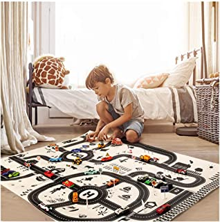Wenini Toy Car Map Educational Toys, Kids Play Mat City Road Buildings Parking Map Game Scene Map Educational Toys (Multicolor)