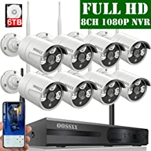 【6TB HDD Pre-Install 】 OOSSXX 8-Channel HD 1080P Wireless Security Camera System,8Pcs 1080P 2.0 Megapixel Wireless Indoor/Outdoor IR Bullet IP Cameras,P2P,App, HDMI Cord & 6TB HDD Pre-Install