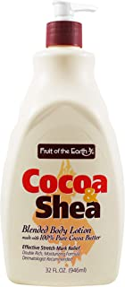 Cocoa & Shea Blended Body Lotion 32 Oz Pump Bottle By Fruit of the Earth