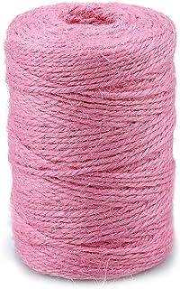 jijAcraft Pink Schnur, 100M 2MM Juteschnur Dekorationsschnur für Kunsthandwerk und Verpackung