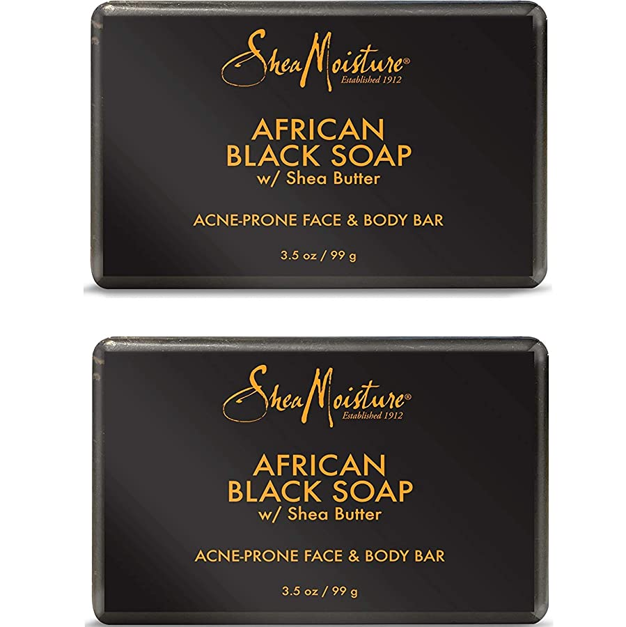 変更可能メディカルそれに応じてShea Moisture アフリカンブラックソープバー、3.5オズ、2パック 2パック