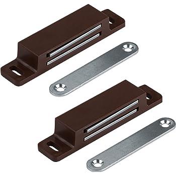 4 Stück Tür Möbel Einbau Magnete Magnetschnäpper Schranktür Magnet braun