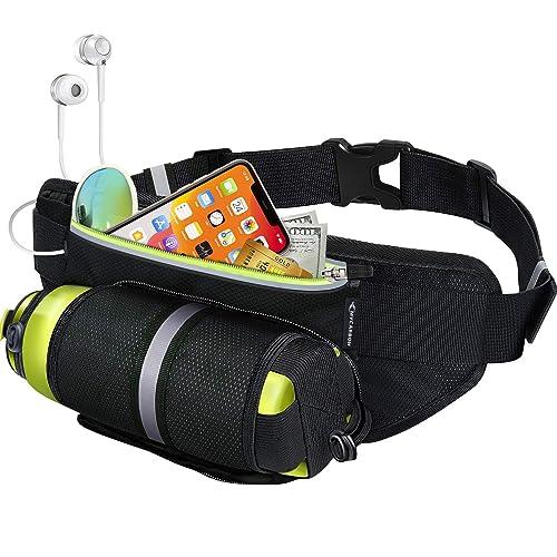 Poche /à Fermeture /éclair pour t/él/éphone Portable Running Belt Sac Banane Course /à Pied FitFeelsFun Ceinture de Sport Femme Homme