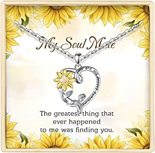 Sterling Silver Sunflower Heart Necklace You Are My...