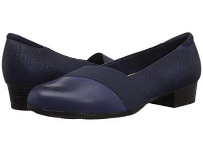 Trotters Melinda (Navy Casual Leather/Snake) Women