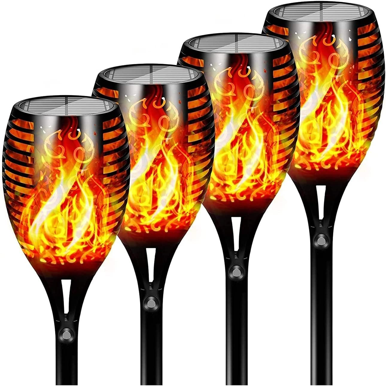 Solar Flame Our shop OFFers the best service Torch Lights Regular store Outdoor Post Flickering Flames Dancing