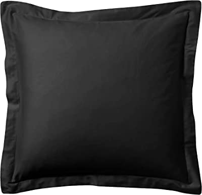 Luxurious Collections Super Soft 2 Piece Euro Shams 600 Thread Count 100/% Egyptian Cotton Solid//Plain 26 x 26 Inch 66cm x 66cm , Black