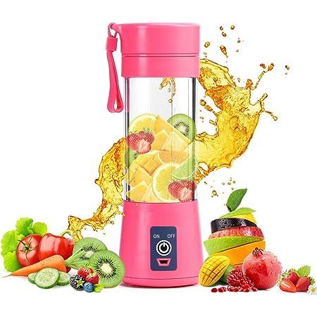 AMAZON'S BRAND ROYAL STEP Portable Electric USB Juice Maker Juicer Bottle Blender Grinder Mixer,4 Blades Rechargeable Bottle with (Multi color)