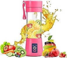 AMAZON'S BRAND ROYAL STEP Portable Electric USB Juice Maker Juicer Bottle Blender Grinder Mixer,4 Blades Rechargeable...