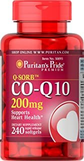 Puritans Pride Q-Sorb Co Q-10 200 Mg Rapid Release Softgels, 240 Count