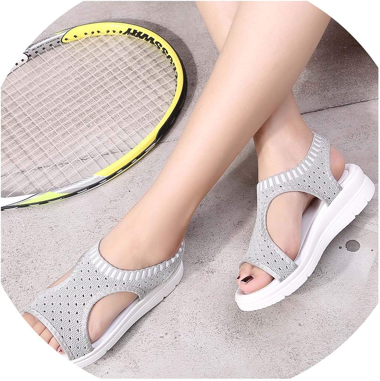 HuangKang shoes Woman Women's Summer Sandals shoes Peep-Toe Low shoes Roman Sandals Ladies Fashion