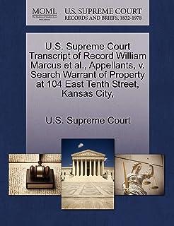 U.S. Supreme Court Transcript of Record William Marcus et al., Appellants, V. Search Warrant of Property at 104 East Tenth...
