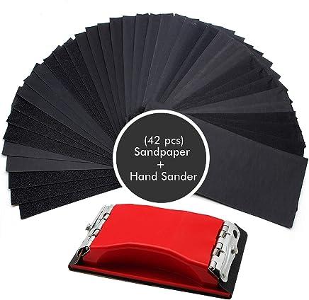 Gocheer Sanding Paper,100 pcs Power Sanding Discs Sanding Set for Orbital Sander Furniture Refinisher