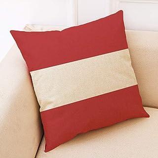 AQGELBZ Moderno Minimalista Amor impresión algodón Funda de Almohada Cuadrada Almohada del Coche sofá cojín @ C_45 * 45 cifrado de Lino