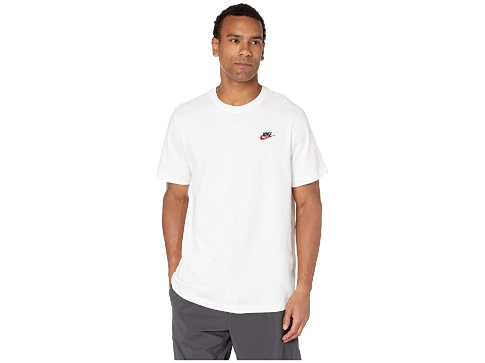 Nike NSW Club Tee (White/Black/University Red) Men