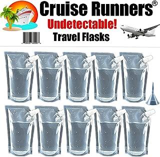 CRUISE RUNNERS Brand Ship Kit Flask 10 32oz Sneak Alcohol Runner Rum Liquor Smuggle Booze Bags Runners 10 x 32oz