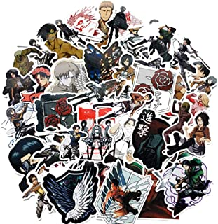 SosoJustgo2 Classic Japanese Anime Cartoon Laptop Stickers Waterproof Stickers Sheet for Skateboard Pad MacBook Car Snowboard Bicycle Luggage D�cor(Attack on Titan 42PCS)