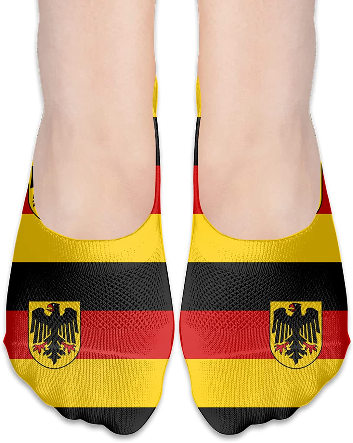 German Flags Unisex Adult Light Casual Liner Socks Non Slip No Show Ankle Socks Low Cut Invisible Socks