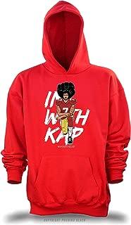 PUSHING BLACK Colin Kaepernick Take a Knee #ImWithKap Unisex Pullover Hoodie