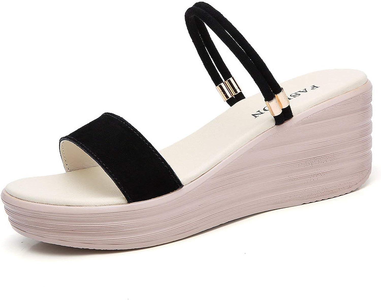 High Heels Sandals Suede Leather High Heels Sandals Women Platform Gladiator Wedge Sandals