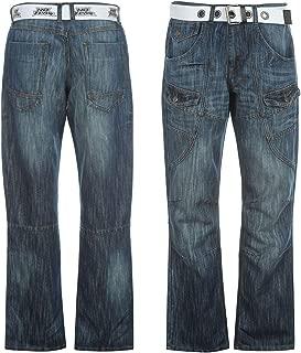 Men's Belted Cargo Jeans
