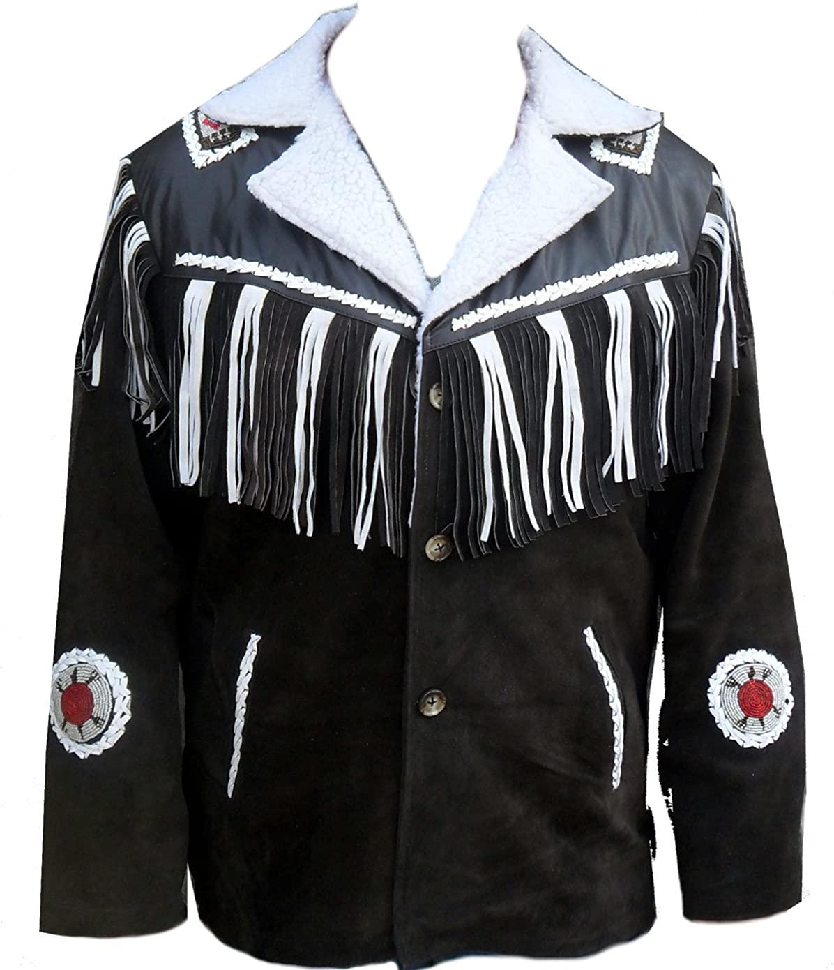 Classyak Western Style Real Leather Jacket Special Artificial Fur Lining, Xs-5xl