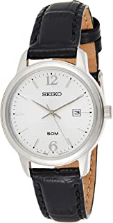 Seiko Women's White Dial Leather Band Watch