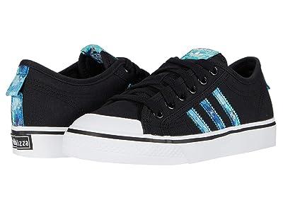 adidas Originals Kids Nizza (Big Kid) (Black/Collegiate Royal/White) Kids Shoes