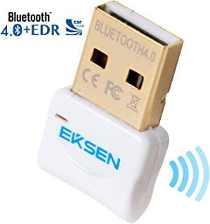 Bluetooth CSR 4.0 USB ドングル・アダプター EKSEN ブルートゥース送信機と受信機のための窓10 / 8/7 /ビスタプラグアンドプレイで勝つ7と上記の - ホワイト