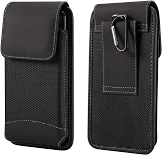 Oxford Vertical Pouch Case Belt Clip Loops Holster for Samsung Galaxy S9 Plus Note 9 / Note 8 / iPhone Xs Max/iPhone XR/Google Pixel 3 XL/Huawei Mate 20 Lite/Honor 8X / Sony Xepria XZ3