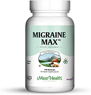 Migraine Max by Maxi Health | Powerful Migraine Relief | Kosher-Certified and 100% Natural | For Fighting Severe Pain, Nausea and Sensitivity The Natural Way | 120 Easy-To-Swallow Capsules