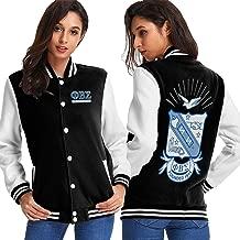 Phi Beta Sigma Logo Varsity Jacket Womens Casual Lightweight Baseball Jacket Coat