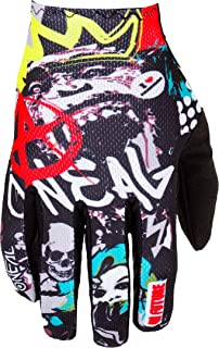 O'NEAL   Fahrrad & Motocross Handschuhe   MX MTB DH FR Downhill Freeride   Langlebige, flexible Materialien, belüftete Handoberseite   Matrix Glove Rancid   Unisex   Schwarz Multi   Größe XXL