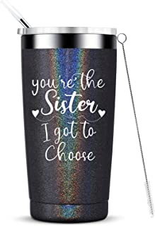 You're the sister i got to choose-Best Like Sisters Gifts Friend Friendship Stainless Steel Travel Mug with Straw and Lid ...