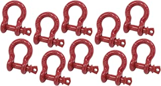 | Double Rust Protection Heavy Duty D Ring Shackle for Towing Rigging /& Vehicle Recovery 27,000 lbs 1-3//8 Anchor Shackle Forged Carbon Steel w// Alloy Screw Pin Load Limit # 13.5 Tons